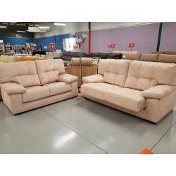 Conjunto sofá 3 plazas y 2...