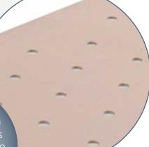 Tablero perforado de base tapizada